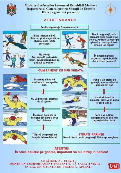 În orice situație pe gheață, important să nu intrați în panică!