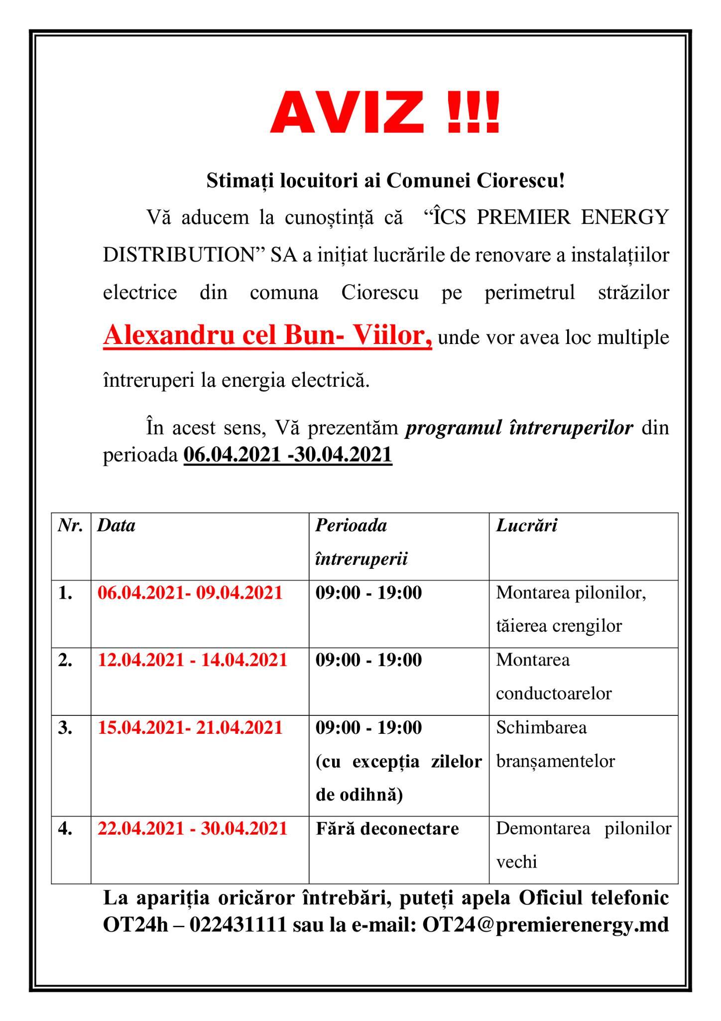 Inițializarea lucrărilor pentru renovarea instalațiilor electrice din Comuna Ciorescu