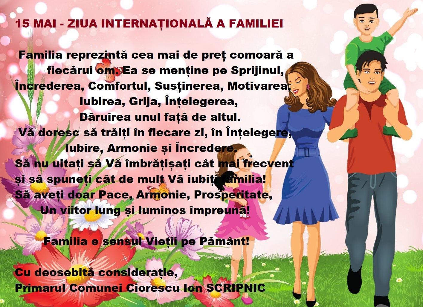 15 mai - ziua internațională a familiei
